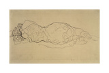 Reclining Woman, Seen from Behind Giclee Print by Gustav Klimt
