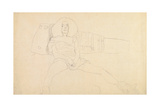 Seated Woman with Legs Spread Giclee Print by Gustav Klimt