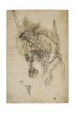 Goblin Sumi Underdrawing on Paper Giclee Print by Yoshitoshi Tsukioka