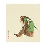 Monkey Giclee Print by Bairei Kono