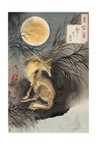 Moon on Musashi Plain, One Hundred Aspects of the Moon Giclée-tryk af Yoshitoshi Tsukioka