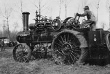American Road Engine with Vapor Being Used as Tractor Photographic Print by Brothers Seeberger