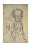 Standing Woman Leaning on a Chair Giclee Print by Gustav Klimt
