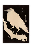 Crow in the Snow Reproduction procédé giclée par Kyosai Kawanabe