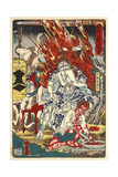 Fiery God Fudo and Assistants Giclee Print by Kyosai Kawanabe