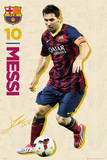 Barcelona - Messi Vintage 13/14 Plakaty