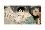 Yuki: Iwakura No Sogen: Onoe Baiko (Snow: Onoe Baiko V as Iwakura Sogen) Giclee Print by Yoshitoshi Tsukioka