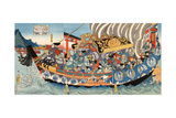 Chronicle of the Rise and Fall of the Minamoto and Taira Clans, Genpei Seisuiki Giclee Print by Yoshitsuya Utagawa