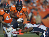 NFL Playoffs 2014: Jan 19, 2014 - Broncos vs Patriots - Knowshon Moreno Photographic Print by Jack Dempsey