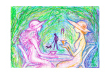 The Teatime of the Afternoon of Two Women Giclee Print by Mariko Miyake