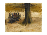 Four People on a Bench Giclee Print by Vincent van Gogh