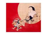 Otafuku and Demon Giclee Print by Zeshin Shibata