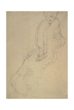 Seated Woman Facing Left Giclee Print by Gustav Klimt