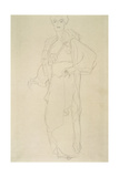 Standing Woman Facing Slightly Left Giclee Print by Gustav Klimt