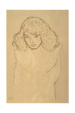 Head and Shoulders Portrait of a Girl Giclee Print by Gustav Klimt