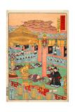 Images of the Fifteen Ashikaga Shoguns at the Toji-In in Kyoto Giclee Print by Kyosai Kawanabe