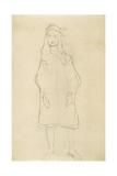 Standing Girl in Coat 2 Giclee Print by Gustav Klimt