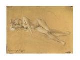 Reclining Maenade Giclee Print by Gustav Klimt