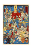 Scene of the Other World, No. 4 Giclee Print by Kyosai Kawanabe