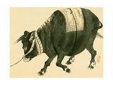 Ox Giclee Print by Bairei Kono