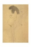 Standing Pregnant Woman in Profle Giclee Print by Gustav Klimt
