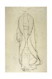 Standing Woman in Coat 3 Giclee Print by Gustav Klimt