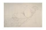 Reclining Nude with Leg Raised Giclée-Druck von Gustav Klimt