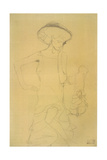 Standing Woman with Left Leg Raised 2 Giclee Print by Gustav Klimt