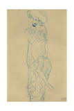 Standing Woman with Left Leg Raised Giclee Print by Gustav Klimt