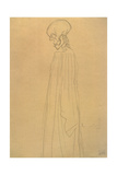 Three Quarter Length Portrait of a Skelton Dressed in Long Gown Giclee Print by Gustav Klimt