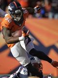 NFL Playoffs 2014: Jan 19, 2014 - Broncos vs Patriots - Demaryius Thomas Plakater av Joe Mahoney