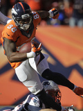 NFL Playoffs 2014: Jan 19, 2014 - Broncos vs Patriots - Demaryius Thomas Photographic Print by Joe Mahoney