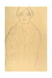 Half-Length Portrait of a Woman Facing Forward Giclee Print by Gustav Klimt