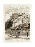 Perron du Théâtre Déjazet Gaité - Folies Dramatiques: Boulevard du Temple Giclee Print by Adolphe Martial-Potémont