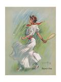 Tennis Girl Giclee Print by Hamilton King