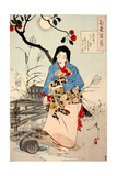Lady Chiyo, One Hundred Aspects of the Moon Giclee Print by Yoshitoshi Tsukioka