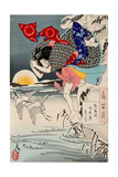 Moon of Pure Snow at Asano River, One Hundred Aspects of the Moon Giclee Print by Yoshitoshi Tsukioka