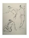 Three Men Figures Giclee Print by Nobu Haihara