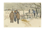 Miners in the Snow Giclee Print by Vincent van Gogh