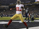 NFL Playoffs 2014: Jan 19, 2014 - 49ers vs Seahawks - Anquan Boldin Photographic Print by Matt Slocum