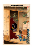 Fox Woman Leaving Her Child, Thirty-Six Transformations Giclee Print by Yoshitoshi Tsukioka