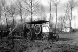Agriculture a Road Engine Ancestor of the Tractors Photographic Print by Brothers Seeberger