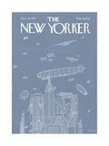 The New Yorker Cover - October 31, 1977 Regular Giclee Print by R.O. Blechman