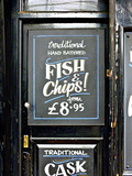 Traditional Hand Battered Fish and Chips!, London Photographic Print by Anna Siena