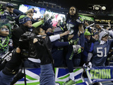 NFL Playoffs 2014: Jan 19, 2014 - 49ers vs Seahawks - Richard Sherman Photographic Print by Elaine Thompson