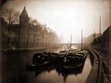 La Conciergerie et la Seine, Brouillard en Hiver, 1923 Fotografiskt tryck av Eugène Atget