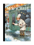 Just a Pinch - The New Yorker Cover, January 27, 2014 Regular Giclee Print by Peter de Sève