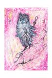The Owl Which Hums Giclee Print by Mariko Miyake
