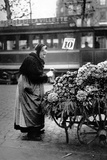 Paris, Saleswoman of Violets Photographic Print by Brothers Seeberger