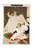 Minamoto No Yorimitsu Preparing to Kill the Earth Spider, Thirty-Six Transformations Giclee Print by Yoshitoshi Tsukioka